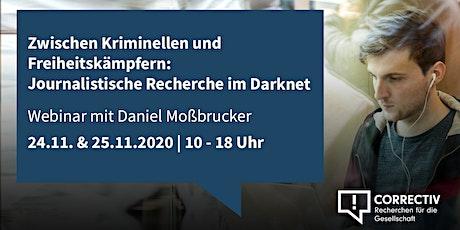 Tag 1 – Journalistische Recherche im Darknet Tickets