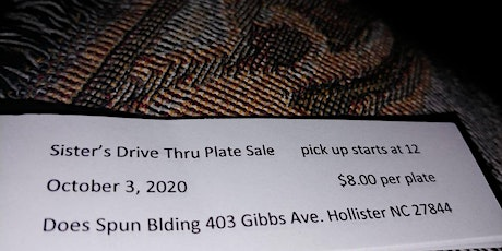 Plate Sale tickets