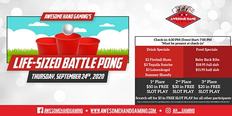 Life-Size Battle Pong at Boyd's Hideout tickets