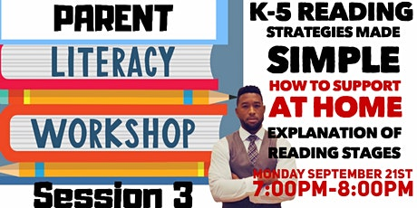 Literacy Workshop Series for Parents Part 3 of 4 tickets