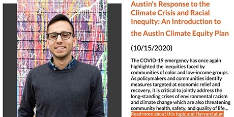 Austin's Response to the Climate Crisis and Racial Inequity tickets
