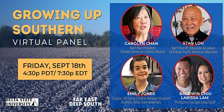 "Beyond Far East Deep South: ""Growing Up Southern"" Panel Discussion tickets"