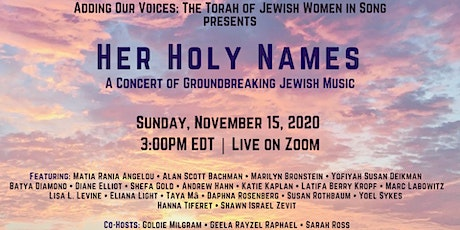 HER HOLY NAMES: A Concert of Groundbreaking Jewish Music tickets