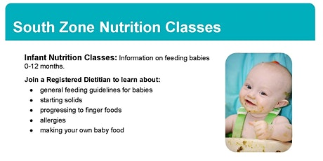 Infant Nutrition Class tickets
