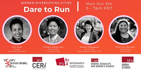 Women Diversifying Cities: Dare to Run Webinar tickets
