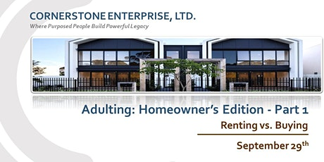 CornerStone - Adulting: Homeowner's Edition Part 1 tickets