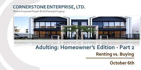 CornerStone - Adulting: Homeowner's Edition Part 2 tickets