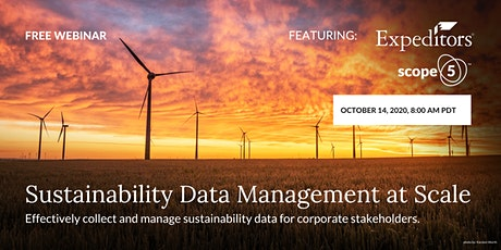 Sustainability Data Management at Scale tickets