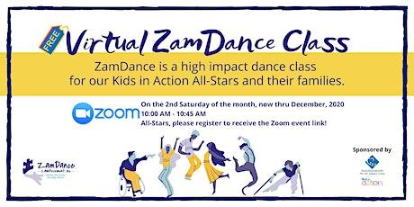 Virtual ZamDance Class tickets