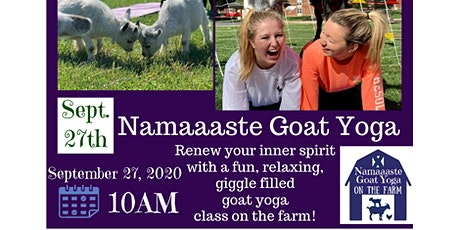 Goat Yoga on the Farm: Namaaaste Goat Yoga tickets