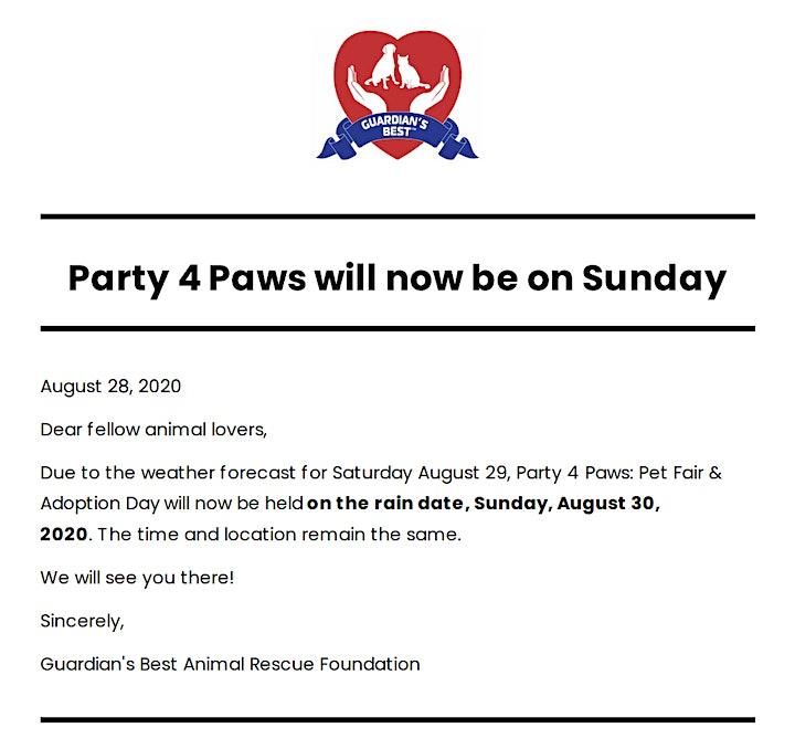 Party 4 Paws: Pet Fair & Adoption Day image