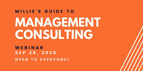 WEBINAR | Millie's Guide to Management Consulting tickets