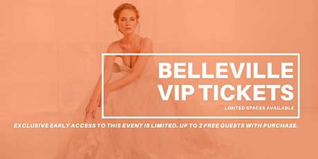 Belleville Pop Up Wedding Dress Sale VIP Early Access tickets