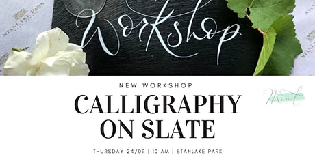 Calligraphy on Slate Workshop tickets