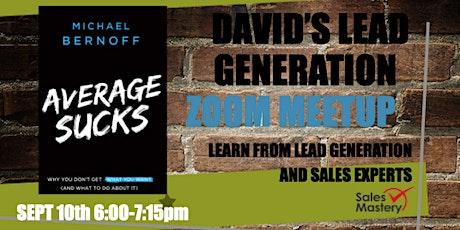 David's Lead Generation MeetUp tickets