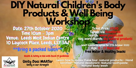 DIY Natural Children's Body Products & Well Being Workshop tickets