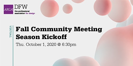 FALL COMMUNITY MEETING + SEASON KICKOFF tickets