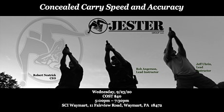 Concealed Carry Speed and Accuracy tickets