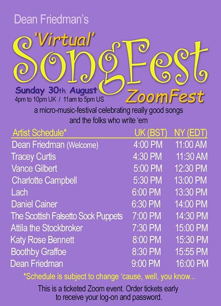 'Virtual' SongFest 'ZoomFest' image