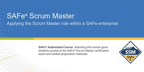 VIRTUAL ! SAFe® 5.0 Scrum Master Certification Training tickets