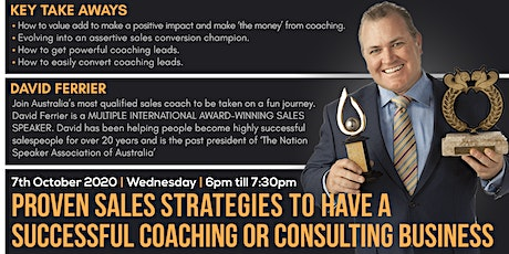 Proven Sales Strategies to have a Successful Coaching Business tickets