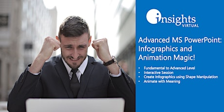VIRTUALCLASS Advanced MS PowerPoint: Infographics and Animation Magic tickets