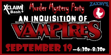 """""""An Inquisition of Vampires"""" Youth Murder Mystery Party tickets"""