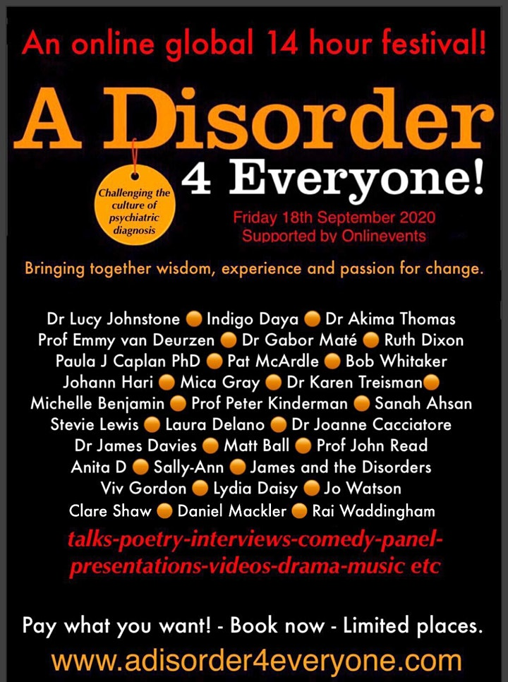 A Disorder for Everyone!  - The Online Festival image