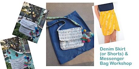 Denim Skirt or Shorts and Mini-Messenger Bag Sewing Workshop tickets