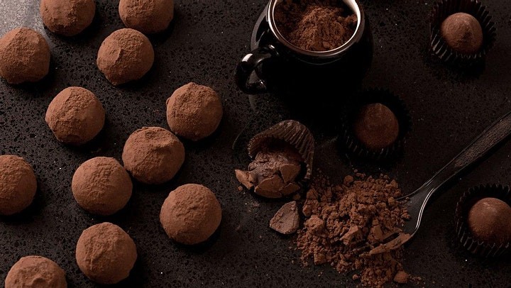 Chocolate and Wine Tasting Online with Fine Chocolates image