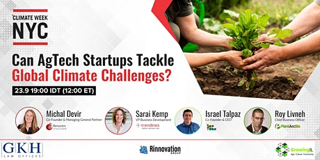 Can AgTech Startups Tackle Global Climate Challenges? NYC Climate Week 2020 tickets
