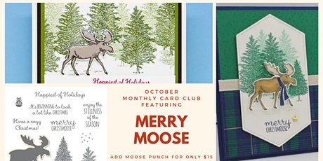 Online Monthly Card Class - Merry Moose tickets