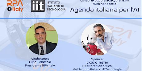 Agenda italiana per l'AI biglietti