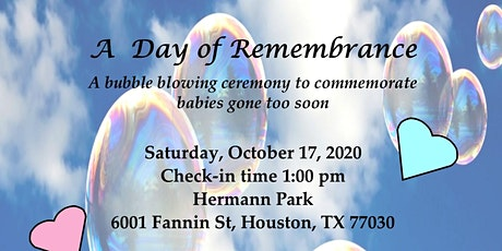 A Day of Remembrance - Babies Gone Too Soon tickets
