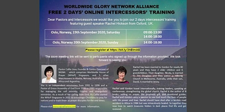 Intercessor training tickets