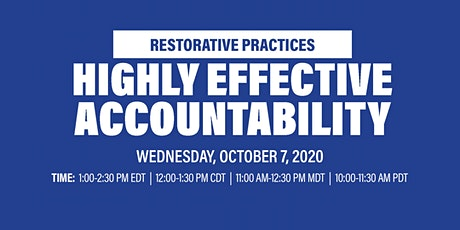 Virtual Workshop: Highly Effective Accountability tickets