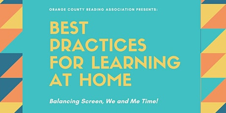 Best Practices for Learning at Home: Balancing Screen, We, & Me time! tickets