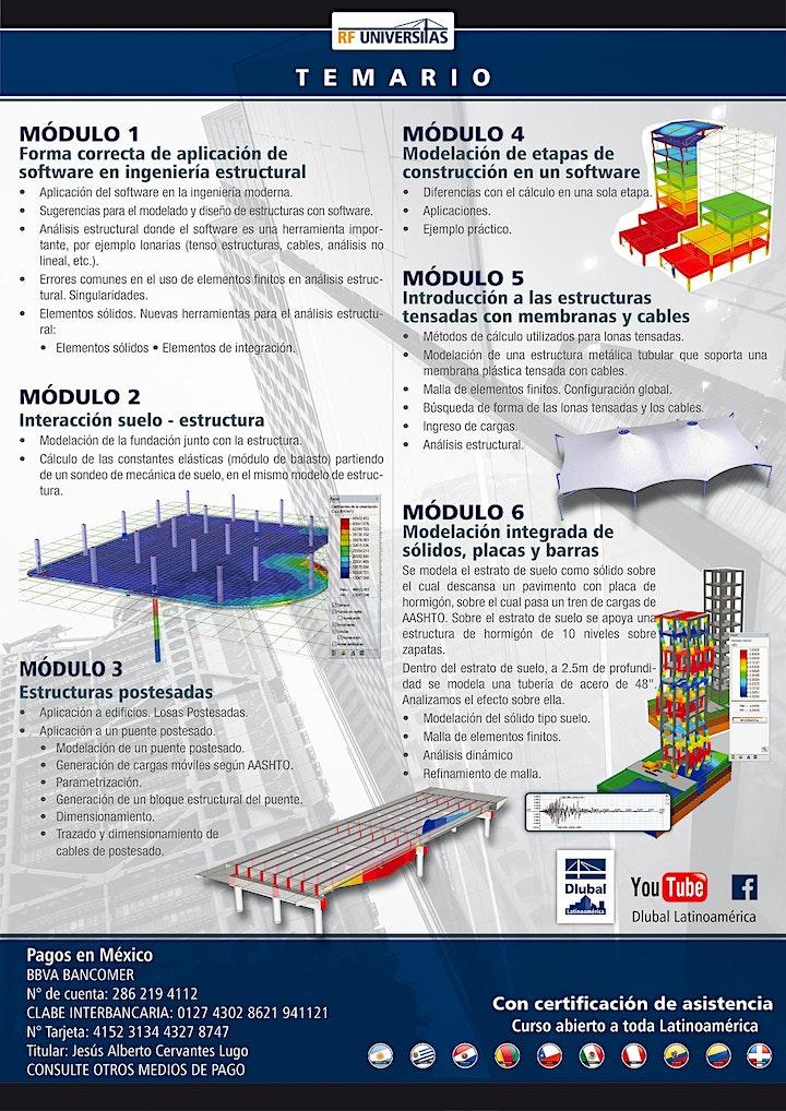Imagen de Curso práctico de análisis estructural avanzado. MEF y modelos no lineales.