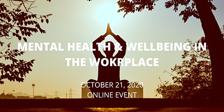 Mental Health and Wellbeing in the Workplace tickets