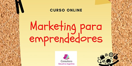 CURSO ONLINE MARKETING PARA EMPRENDEDORES entradas
