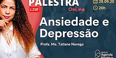 Palestra On-line - Ansiedade e Depressão ingressos