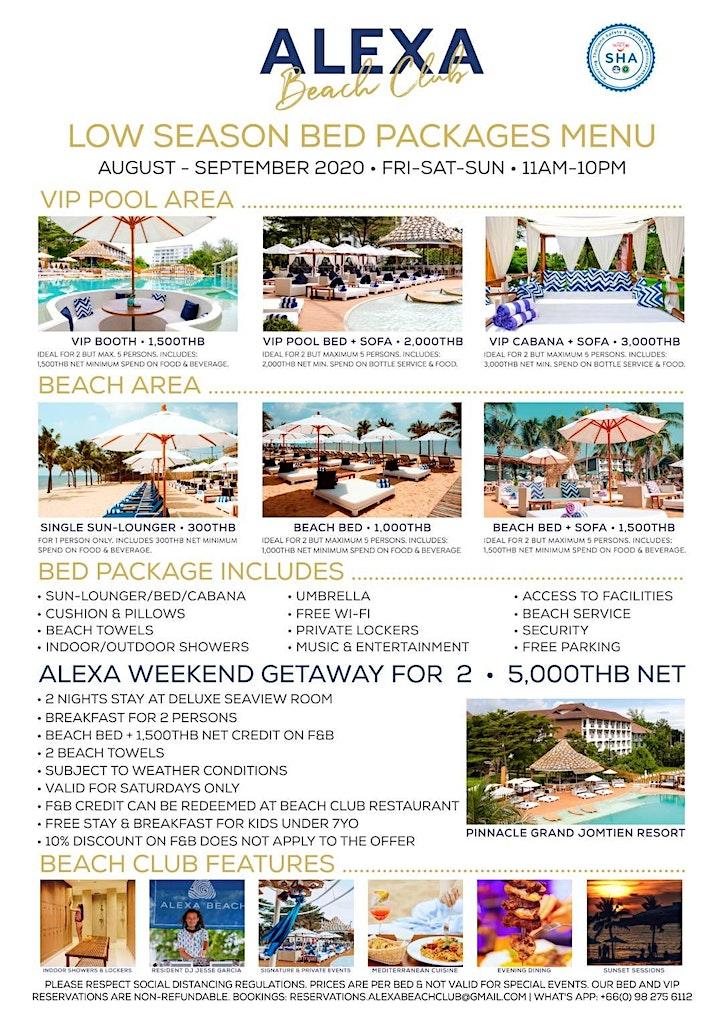 Alexa Beach Club Packages image