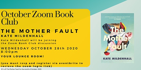 October Zoom Book Club - The Mother Fault by Kate Mildenhall tickets