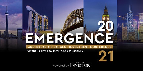 Emergence 2021 - Australasia's flagship investment conference tickets