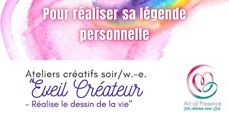 """Ateliers """"Eveil Créateur - Réalise le dessin de ta vie"""" billets"""