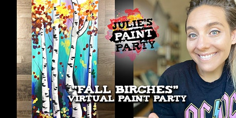 Fall Birches- Virtual Paint Party tickets