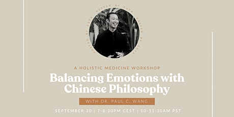 Balancing Emotions with Chinese Philosophy tickets
