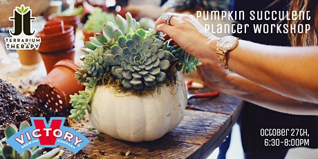 SOLD OUT- Pumpkin Succulent Workshop at Victory Brewing Co tickets