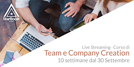 [Live Streaming] Corso di Team Creation e Company Creation