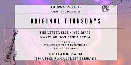 Original Thursdays (Meg Ripps, Mardi Wilson, Sir & Lydia & The Letter Elle) tickets
